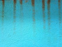 Blue cement walls with vertical watermarks for background or graphic design stock photography