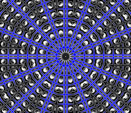 Blue Center Point Mandala. Inspiration Concept Royalty Free Stock Image