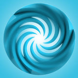 Blue central swirl circle with motion blur Stock Photos