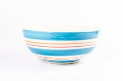 Blue ceramic bowl Stock Photos