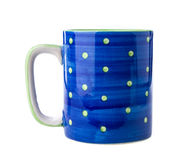 Blue ceramic cup Stock Photography