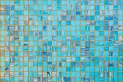 Blue ceramic mosaic Royalty Free Stock Photography
