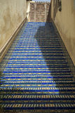 Blue ceramic steps Stock Images