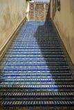 Blue ceramic steps Stock Images