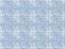 Blue ceramic tile. With scratchs Royalty Free Stock Image