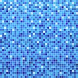 Blue ceramic tile mosaic. In swimming pool stock illustration
