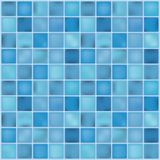 Blue ceramic tile mosaic in swimming pool. Vector illustration. vector illustration