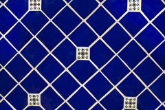 Blue Ceramic Tile Wallpaper Background Stock Photography