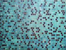 Blue ceramic tiled background Stock Photo