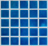 Blue ceramic tiled floor Stock Image