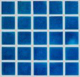 Blue ceramic tiled floor Stock Image