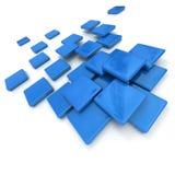 Blue ceramic tiles. 3D rendering of blue ceramic tiles royalty free illustration