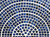 Blue ceramic tiles. Arranged in a half circle and look like network Stock Image