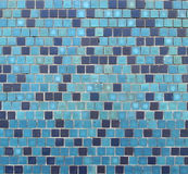 Blue ceramic tiles background Royalty Free Stock Image