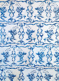 Blue ceramic tiles ornament pattern Royalty Free Stock Photography