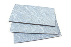 Blue ceramic tiles Stock Photos