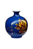 Blue ceramic vase Royalty Free Stock Images