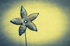 Blue ceramics flower Royalty Free Stock Photo