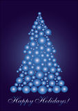 Blue cercle Christmas tree. Background for your greetings card, vector illustration, see more at my portfolio Royalty Free Stock Photography
