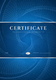 Blue Certificate / Diploma background (template) Royalty Free Stock Photo