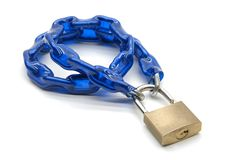 Blue chain stock photos
