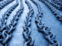 Blue chain Royalty Free Stock Photos