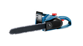 Blue chain saw Royalty Free Stock Photo
