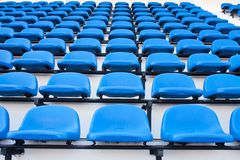 Blue chair. On the miraculous. To watch a sporting event Stock Photo