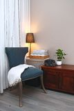 Blue chair in cozy living room Royalty Free Stock Images