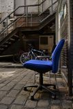The blue chair. Stock Images