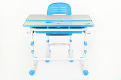 Blue chair and school desk Royalty Free Stock Photo
