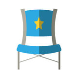 Blue chair star director film shadow Stock Photo