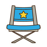 Blue chair star director film. Vector illustration eps 10 Stock Image