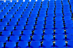 Blue chair Temporary stadium Stock Photo