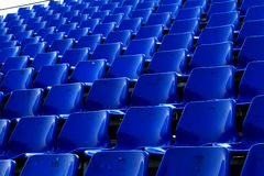Blue chair in Temporary stadium Stock Images