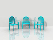 The  blue chairs Royalty Free Stock Image