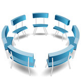 Blue Chairs Circle Royalty Free Stock Photo