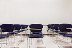 Blue Chairs in a Classroom Royalty Free Stock Images