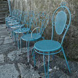 Blue chairs Stock Images