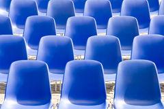 Blue chairs in the square Stock Photo
