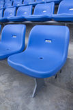 Blue chairs in the stadium. Royalty Free Stock Photos