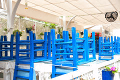 Blue chairs Turkey Stock Image