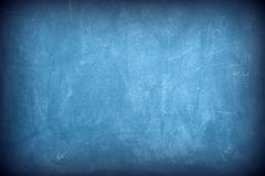 Blue chalkboard. Texture as background stock image