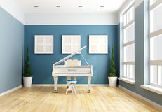 Blue chamber music Royalty Free Stock Photography