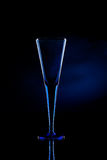 Blue Champagne Flute glass Stock Photos