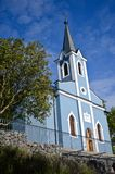 Blue chapel in the Chapel Hill in Balatonboglar, Hungary. A photo made in summer from a small chapel in Balatonboglar, Hungary Stock Image