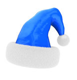 Blue charistmas hat Royalty Free Stock Photos