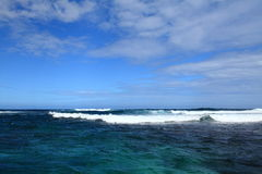 A blue charming sea with wave Royalty Free Stock Photos