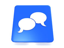 Blue Chat Icon Royalty Free Stock Photo