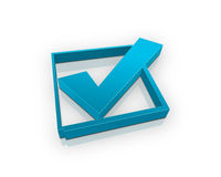 Blue check box Royalty Free Stock Photos